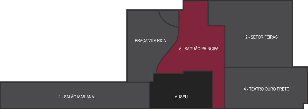 mapa saguão principal
