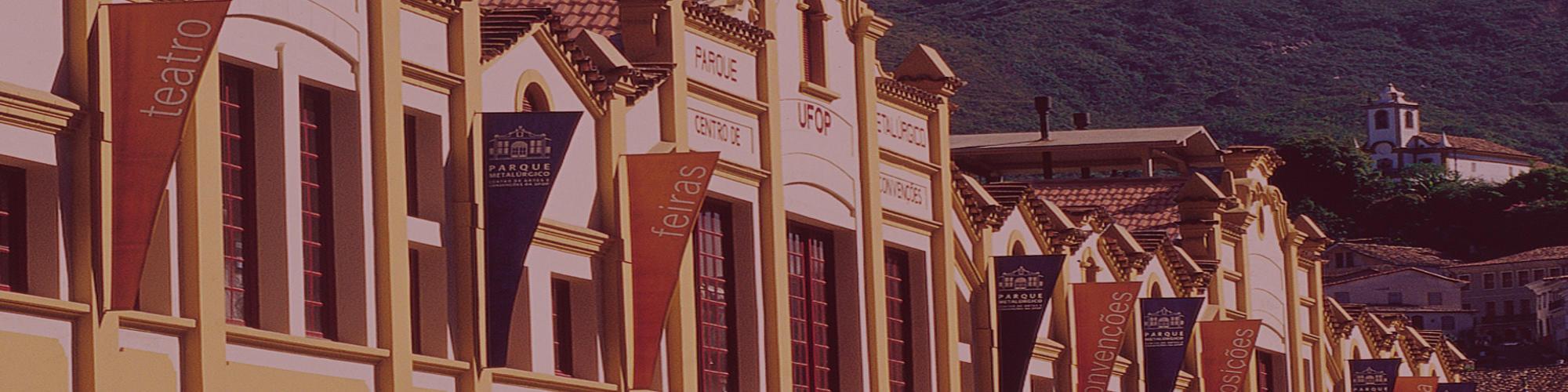 Imagem com a fachada do Centro de artes e convenções